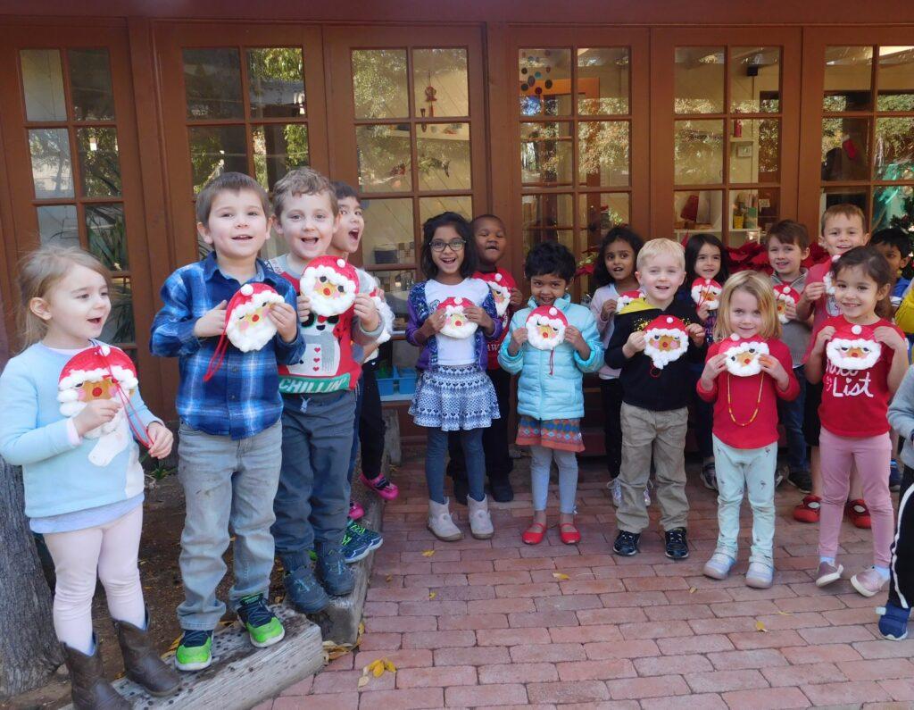 children at Montessori Center School enjoying holidays with young children