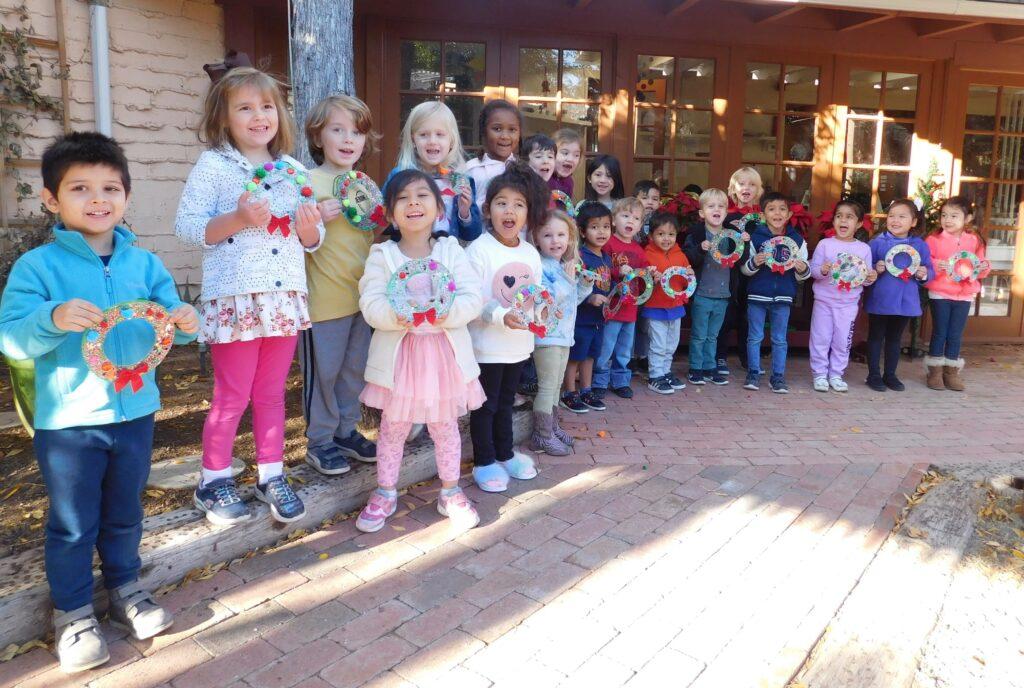 preschoolers at Montessori Center School showing how to enjoy holidays with your preschooler