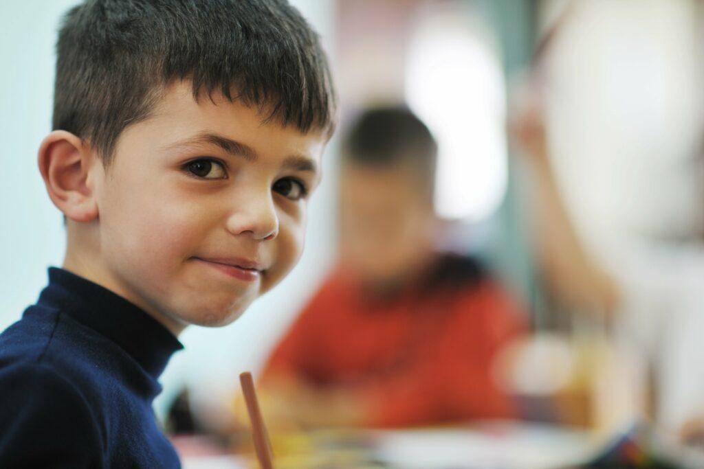 Confident kindergartener becoming a natural leader in Montessori through Kindergarten