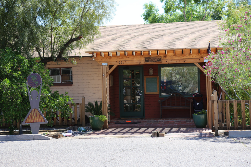 the front entrance of Montessori Center School